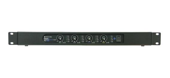 Amplificador Som Ambiente 4 Canais 350w Nextpro Na4350 12x