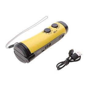Emergency Mão Manivela Dínamo 5 Led Lanterna Com Am / Fm Rád