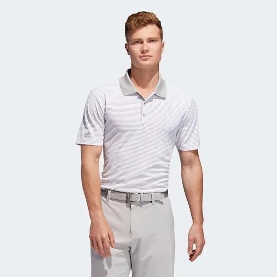 Playera Golf adidas Hombre Blanca Original Nueva Gris Envio