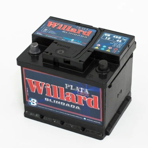 Imagen 1 de 2 de Bateria Willard 45 Amperes 12v Calcio Plata Blindada