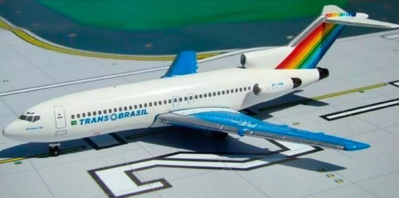 Boeing 727 Transbrasil - Aeroclassics 1/400 - Pt-tyh - Raro