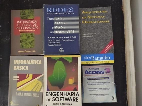 Lote De Livros De Computação Muito Bem Conservados