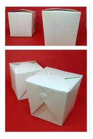 25 Embalagens Box Delivery P/ Comida - Branca - 500ml/850ml