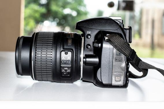 Nikon D3100 Usad + Pac Com 30 Cursos De Fotografias