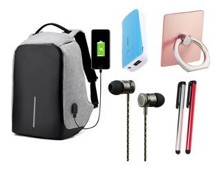 Mochila Antirrobo + Power Bank + Auriculares + Mas Productos