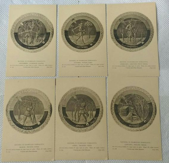 Colección De Postales Inglaterra Museo Británico Pinturas