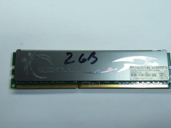 Memória Ram G.skill Ddr3 4gb (2x2gb) Eco Cl9 1600mhz
