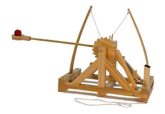 Kit De Catapulta Leonardo Da Vinci