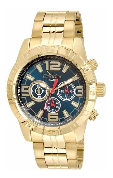 Relógio Masculino Dourado Condor Covd54ar/4a Garantia + Nf