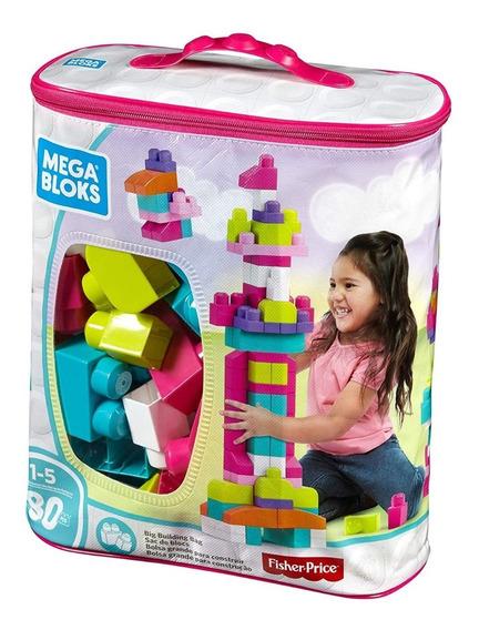 Mega Blocks Fisher Price Bolsa Grande De Construcción 80 Pza