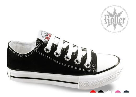 Zapatillas Roller Negras Lona