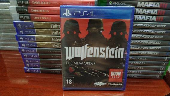 Wolfenstein The New Order Ps4 Mídia Física Original Lacrado