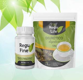 Bem Estar Life Kit Regufine + Chá Regulife + Infusor De Chá