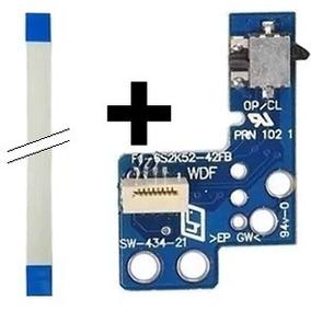 Kit 6 Placas Reset E 6 Cabo Flat Ps2 Power Botão Liga
