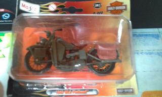 Miniatura Moto Harley Davidson 1942 Wla Flathead