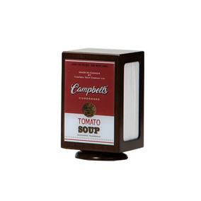 Porta Guardanapo Campbells Giratório Em Madeira 11x18x11cm