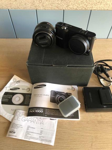 Câmera Semi Profissional Samsung Nx1000 20.3mp Wi-fi Fullhd