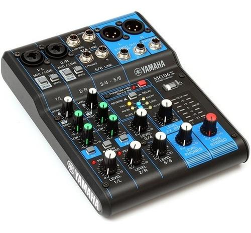 Consola Mixer Mesa Yamaha Mg06x 6 Canales Nueva Cuotas
