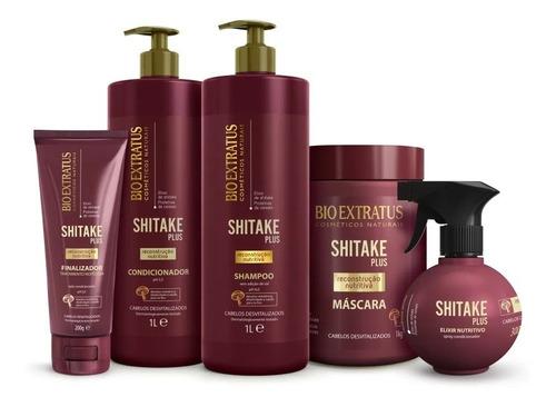 Imagem 1 de 7 de Bio Extratus Shitake Plus Sh + Cond +masc 1 L +final+spray
