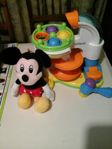 Juego Niños Y Peluche Mickey
