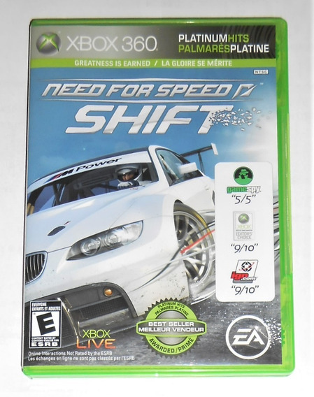 Need For Speed Shift Original Completo Xbox 360 Cr $15