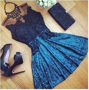 Vestido Curto Com Tule Azul - Frete Grátis