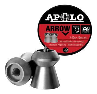Balines Apolo Arrow 5.5 X250u - Punta Hueca Caza Pluma
