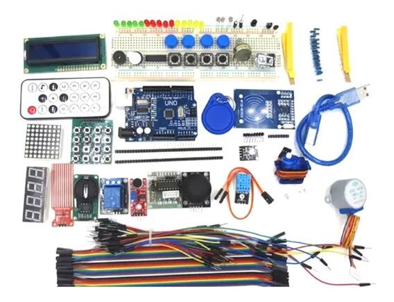 Mega Kit Placa Uno Protoboard 830 Kit Rfid E Mais De 200 Pcs