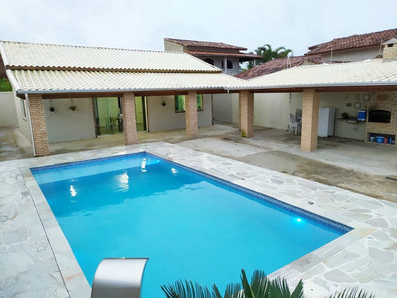 Linda Casa Com Piscina Enorme E A 50m Da Praia - Cod: 275 - V275