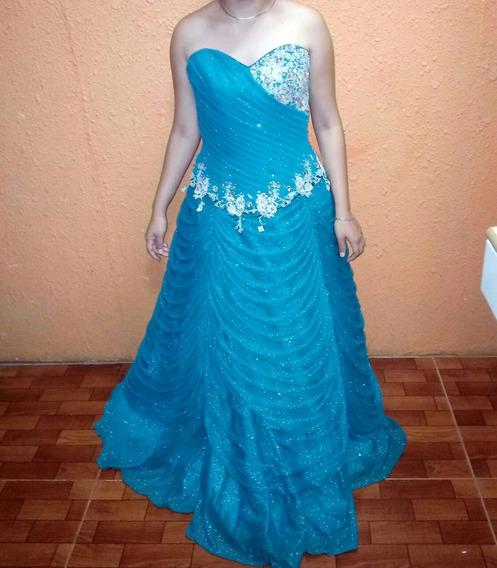 Vestido De Xv Años Azul Petroleo
