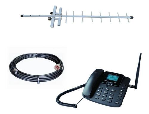 Kit Telefone Celular De Mesa Rural Elsys Epfs12