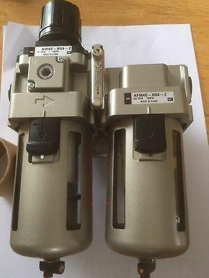 Filtro/regulador+coalescente P/ar Smc Ac40d-04g Novo