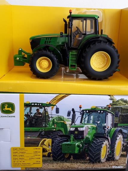 Miniatura Trator Agrícola John Deere 6195m - Escala 1/32