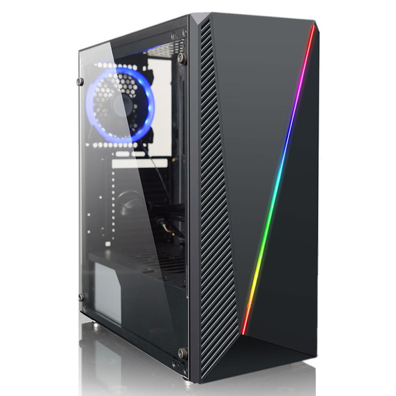 Gabinete Pc Gamer Lnz10 Con Rgb Mid Tower 1 Cooler Usb 3.0