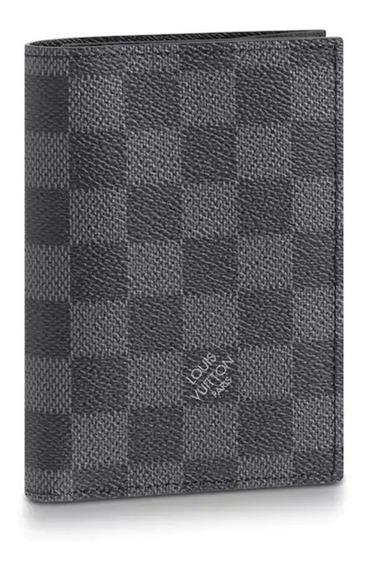 Carteira Passaporte Louis Vuitton Damier Graphite Premium