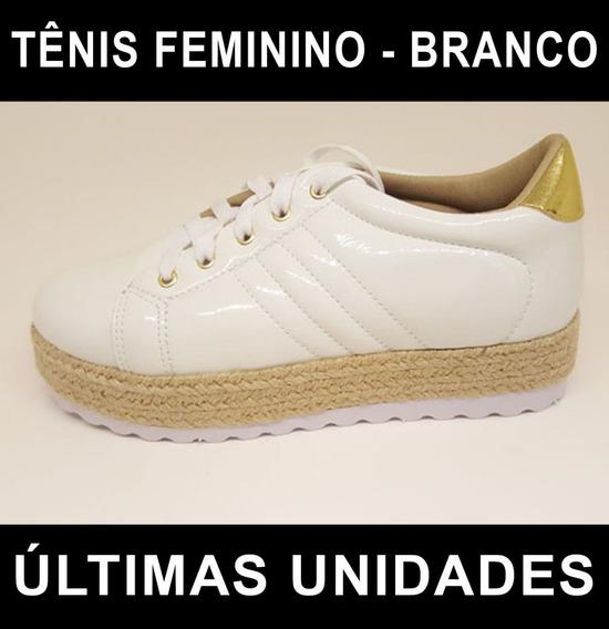 Tênis Feminino Solado Alto Tratorado - Branco