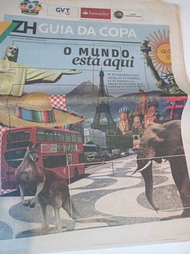 Zero Hora Guia Da Copa Do Mundo 2014 Com Posters Raridade