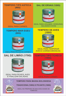 Temperos Hugo Jun Especiarias Kit C/ 7 Unidades