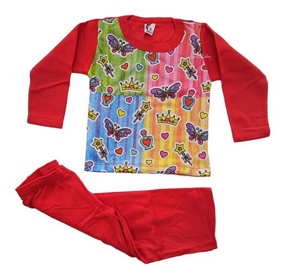 Kit 2 Pijamas Infantil Manga Longa Roupas De Meninas Inverno