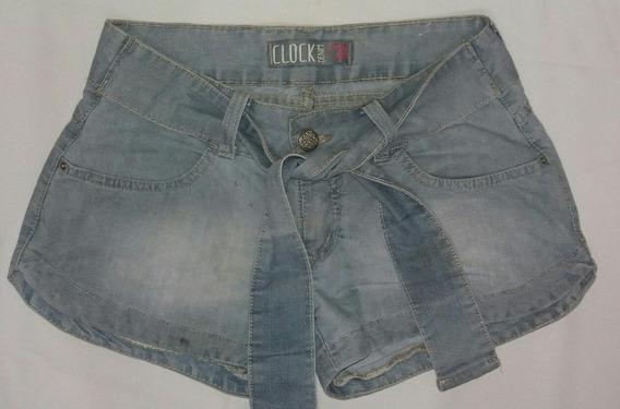 Short Jeans Feminino Semi Nova
