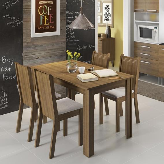 Conjunto Sala De Jantar Rosie Madesa Mesa Com 4 Cadeiras