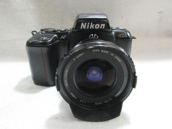 Maquina Fotografica Analogica Nikon N6006 Af+flask Sunpak