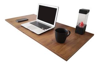 Mesa Escritorio Plegable 100x50 Cm Pared Con Repisa Lateral