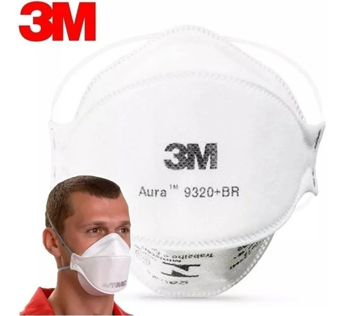 Máscara 3m Pff2 N95 Aura 9320 Br Prot Resp Anvisa Inmetro