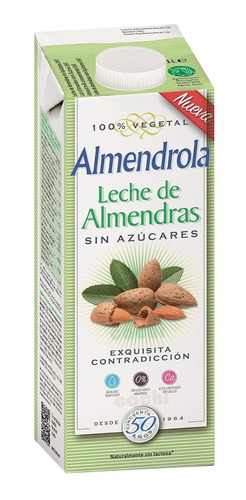 Leche De Almendras Sin Azúcares Almendrola 1 Lt Vegan Sin La