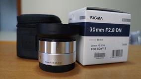 Lente Sigma E-mount 30mm F2.8 Serie Art P/ Sony Muito Nova