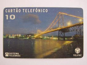Cartão Telefônico - Ponte Hercílio Luz