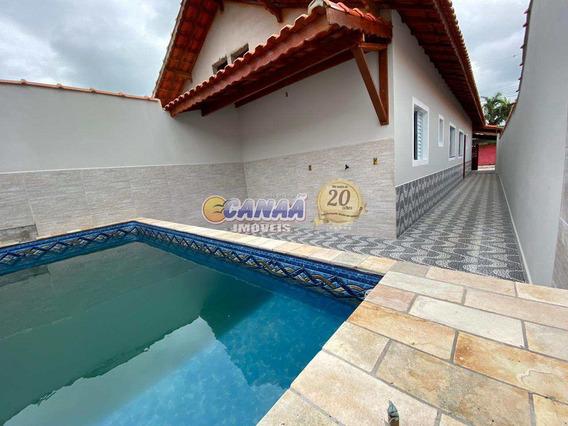 Casa Na Praia C/ Piscina Mongaguá Litoral Paulista R 7801 E