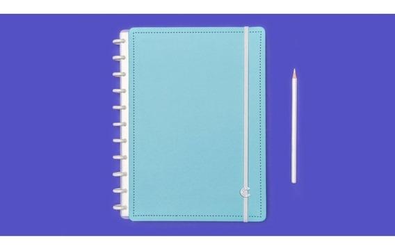 Caderno Inteligente Azul Celeste Grande 80f