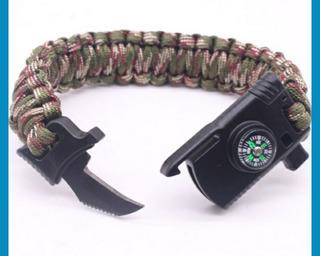 Bracelete Tático De Sobrevivência